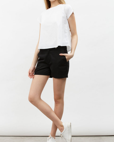 BUTTON SHORTS (BLACK)
