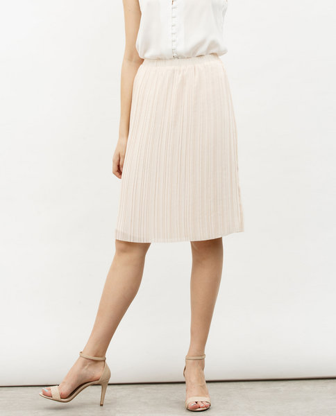 PLEATED SKIRT (ORANGE)