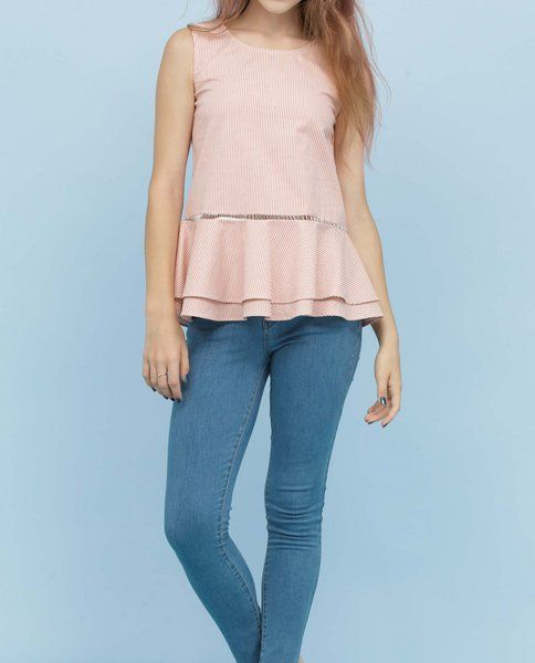 PEPLUM TOP (BERRY)