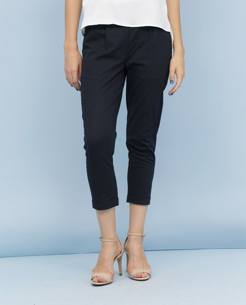 CROPPED TROUSERS (NAVY)