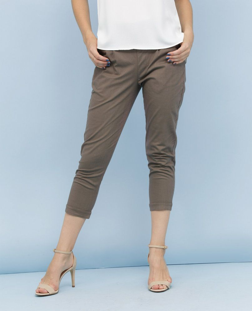 CROPPED TROUSERS (SMOKE)