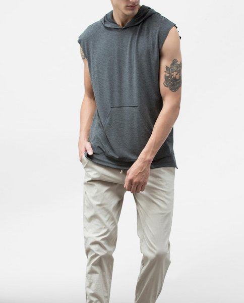 SLEEVELESS HOODY (GREY)