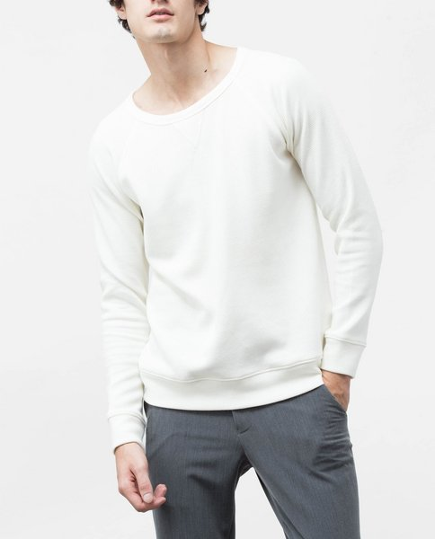 TEXTURED SWEATSHIRT (ECRU)