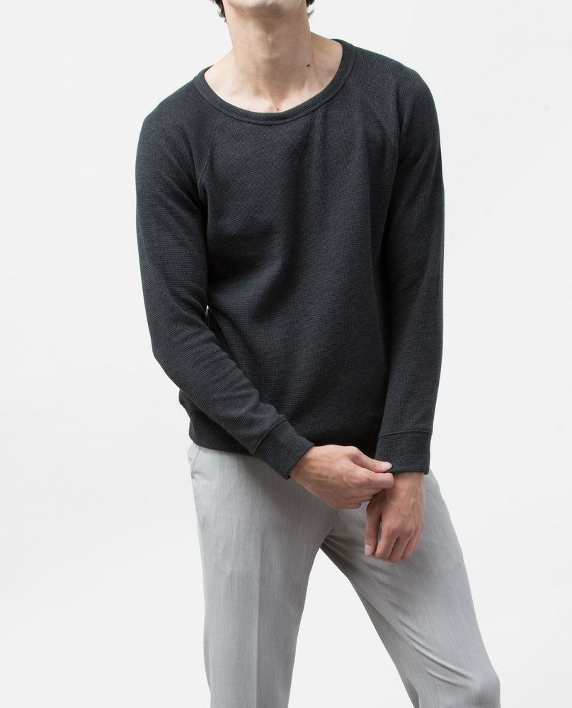 TEXTURED SWEATSHIRT (COAL)