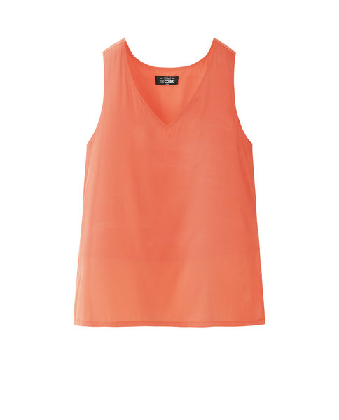 V-NECK TOP (ORANGE)