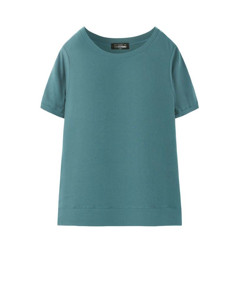 RIBBED T-SHIRT (CANARD)