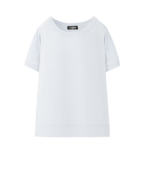 RIBBED T-SHIRT (SKY)