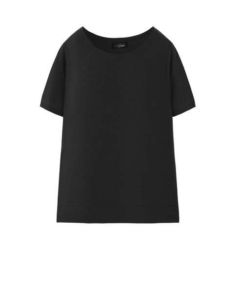 RIBBED T-SHIRT (COAL)