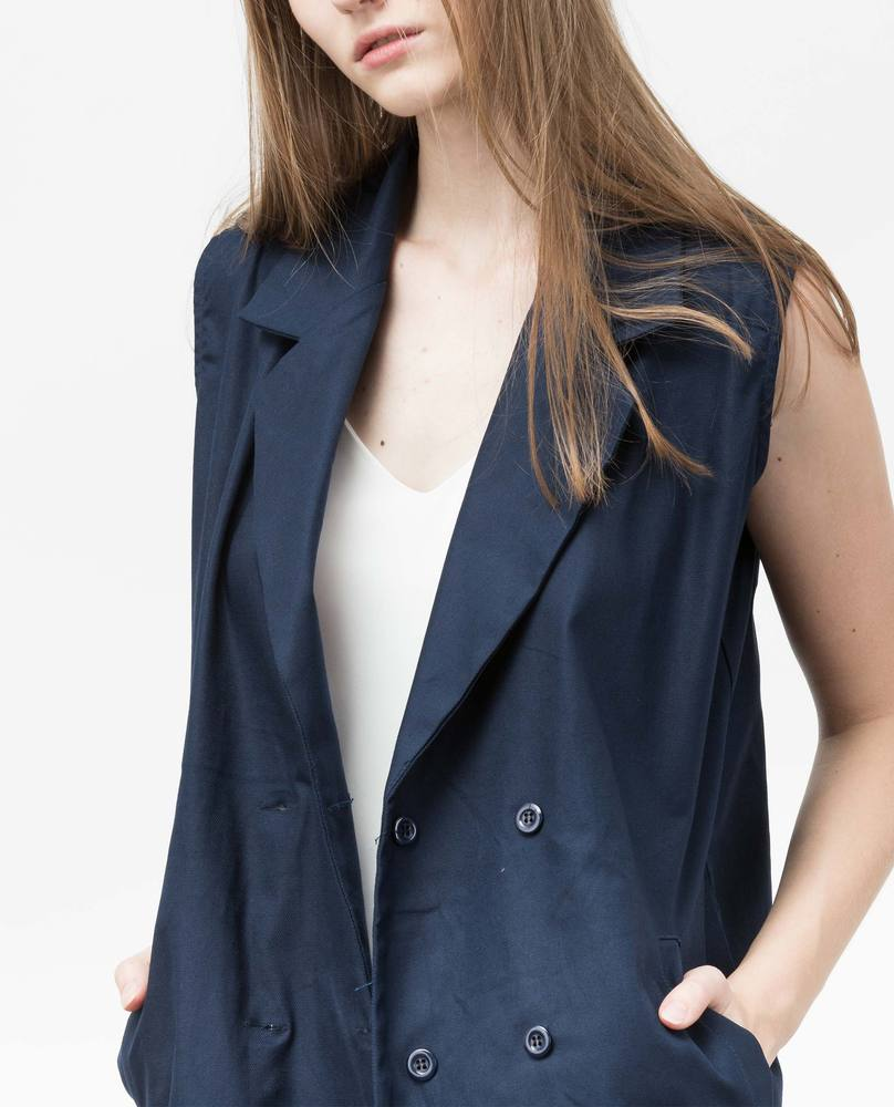 BUTTON JACKET (NAVY)