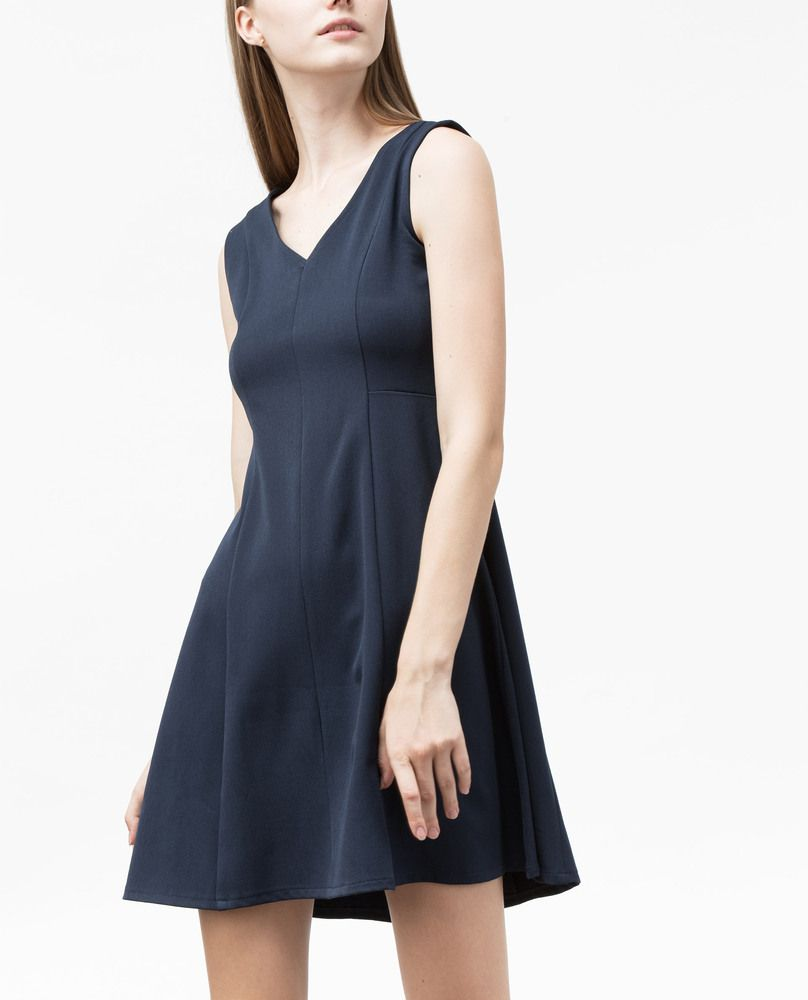 V-NECK DRESS (MARINE)