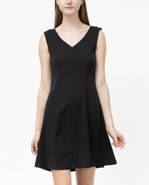 V-NECK DRESS (MIDNIGHT)