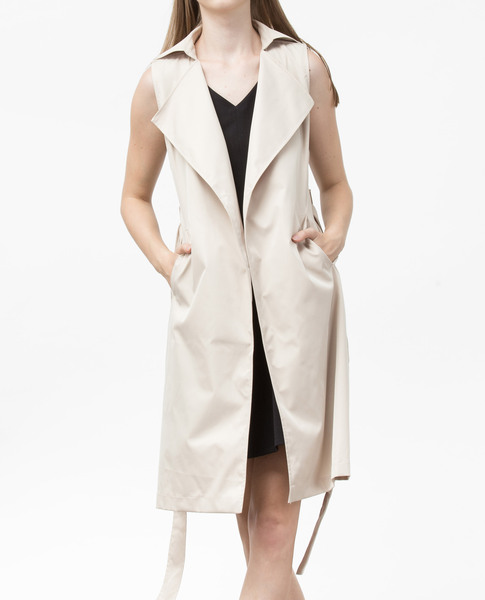 SLEEVELESS JACKET (BEIGE)
