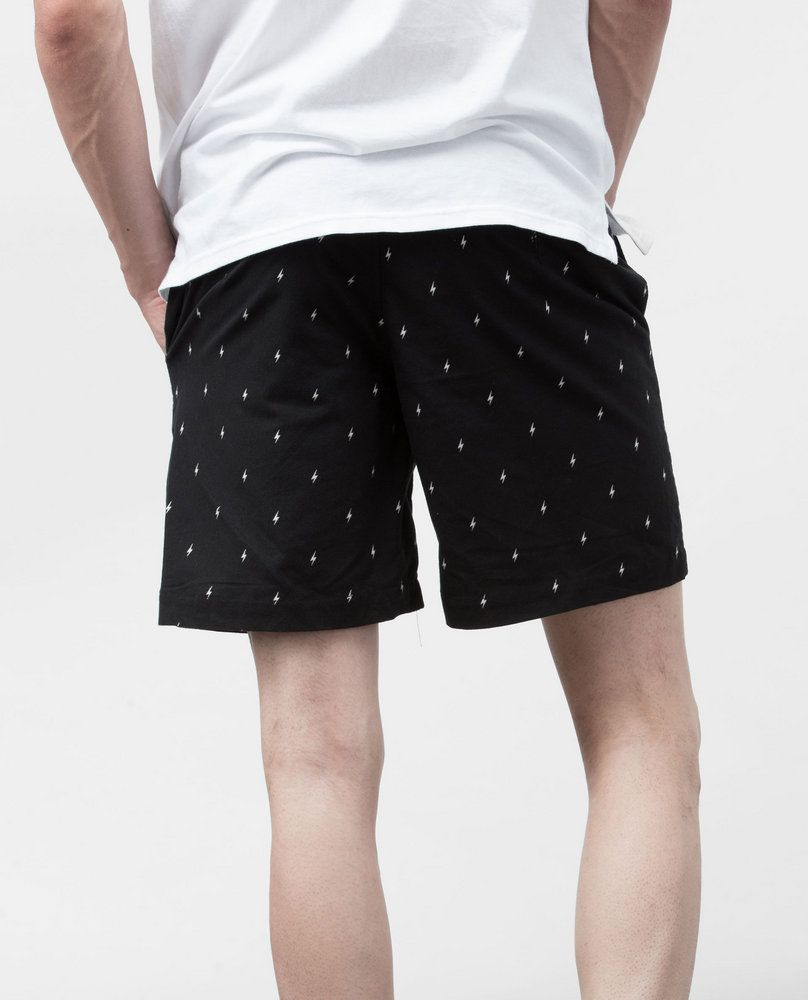PRINTED SHORTS (BLACK)