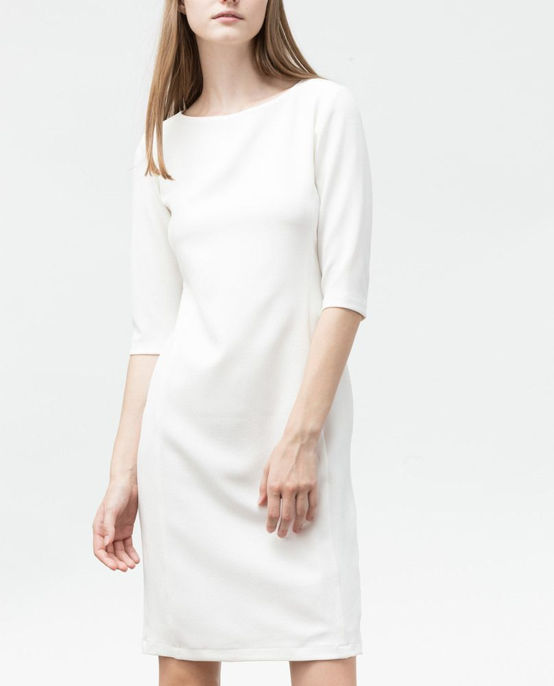 BOAT NECK DRESS (WHITE)