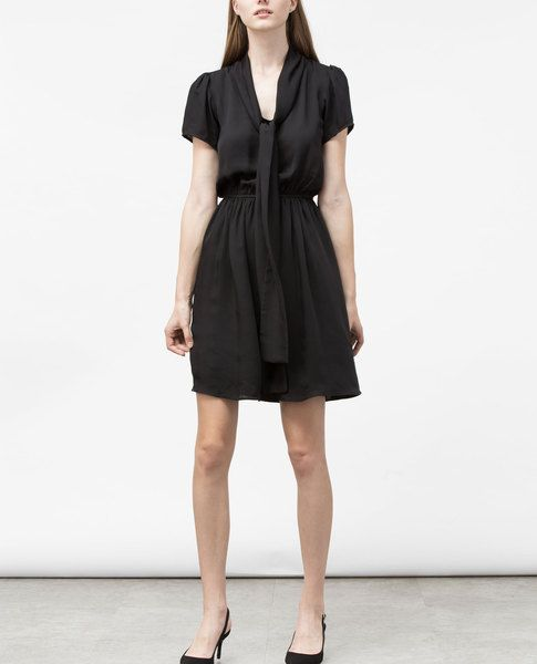 BOW TIE DRESS (BLACK)