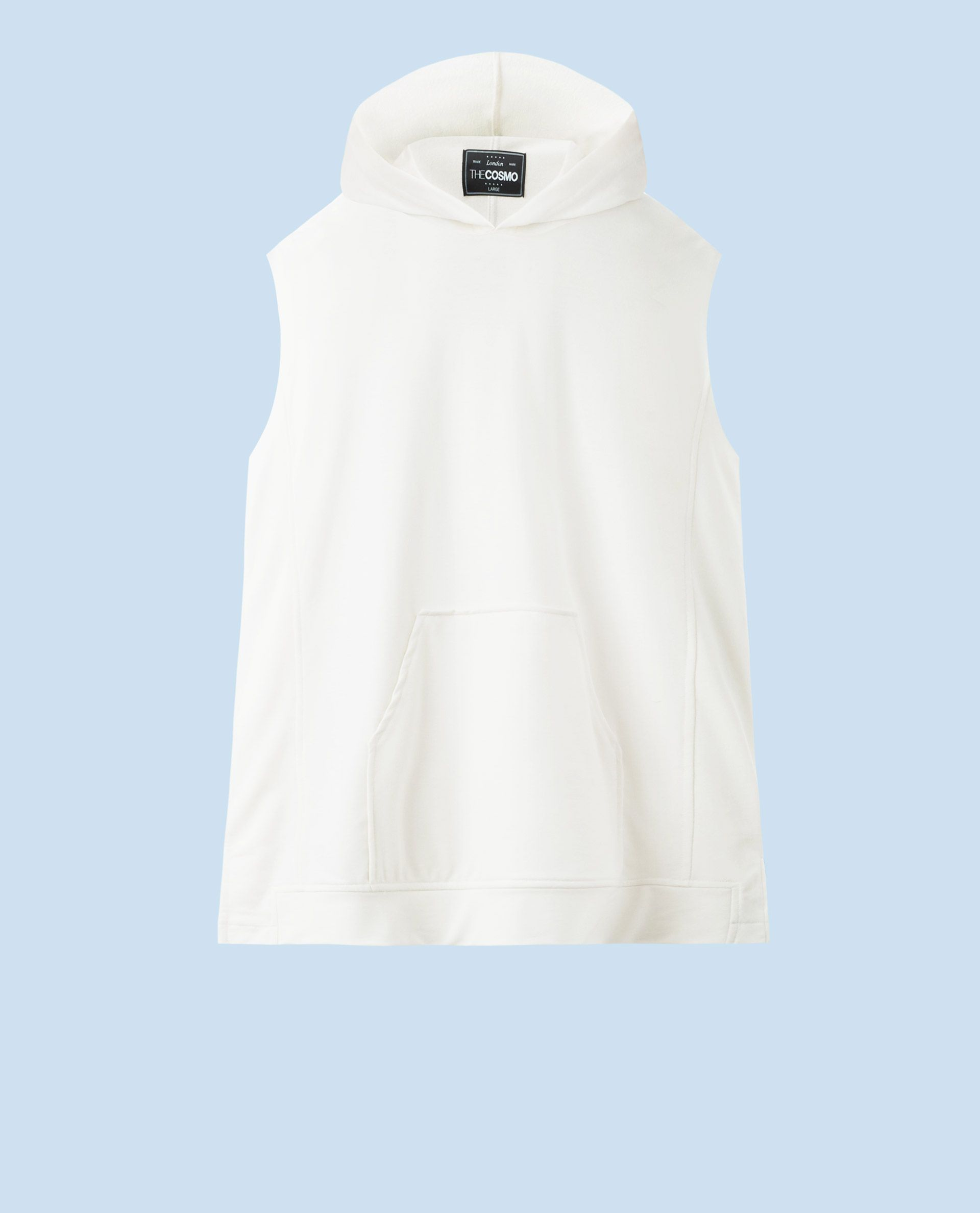 SLEEVELESS HOODY (ECRU)