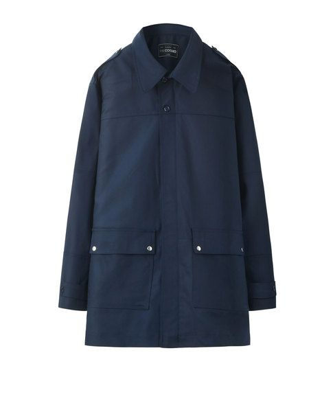 BUTTON PARKA (NAVY)