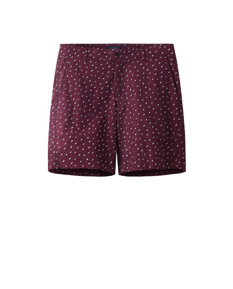 PRINTED SHORTS (BURGUNDY)