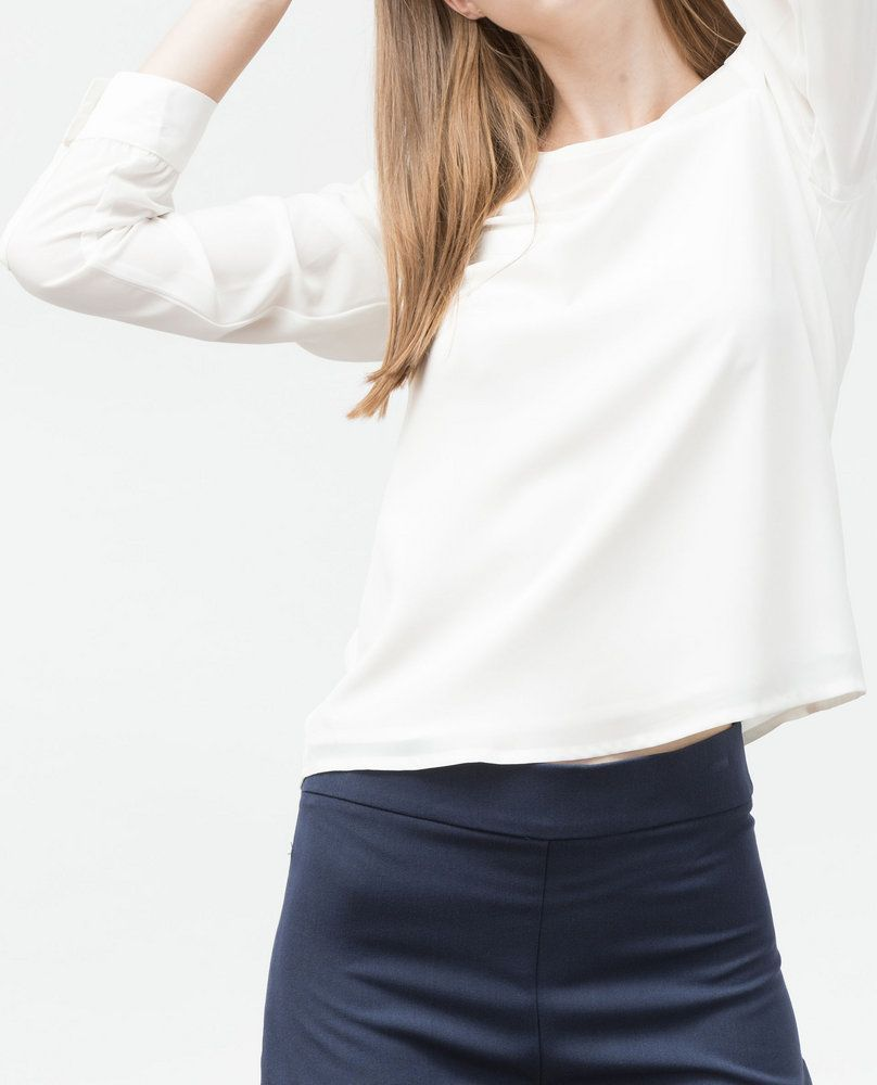 SHEER BLOUSE (WHITE)