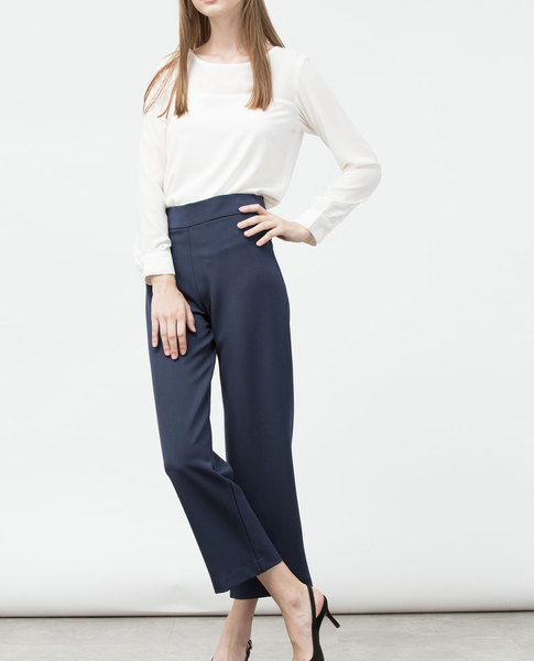 HIGH WAIST CULOTTES (NAVY)