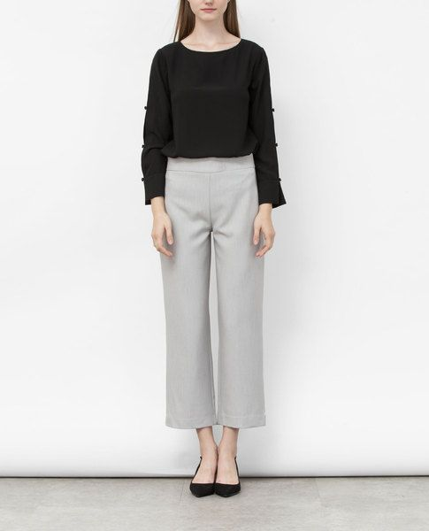 HIGH WAIST CULOTTES (GREY)