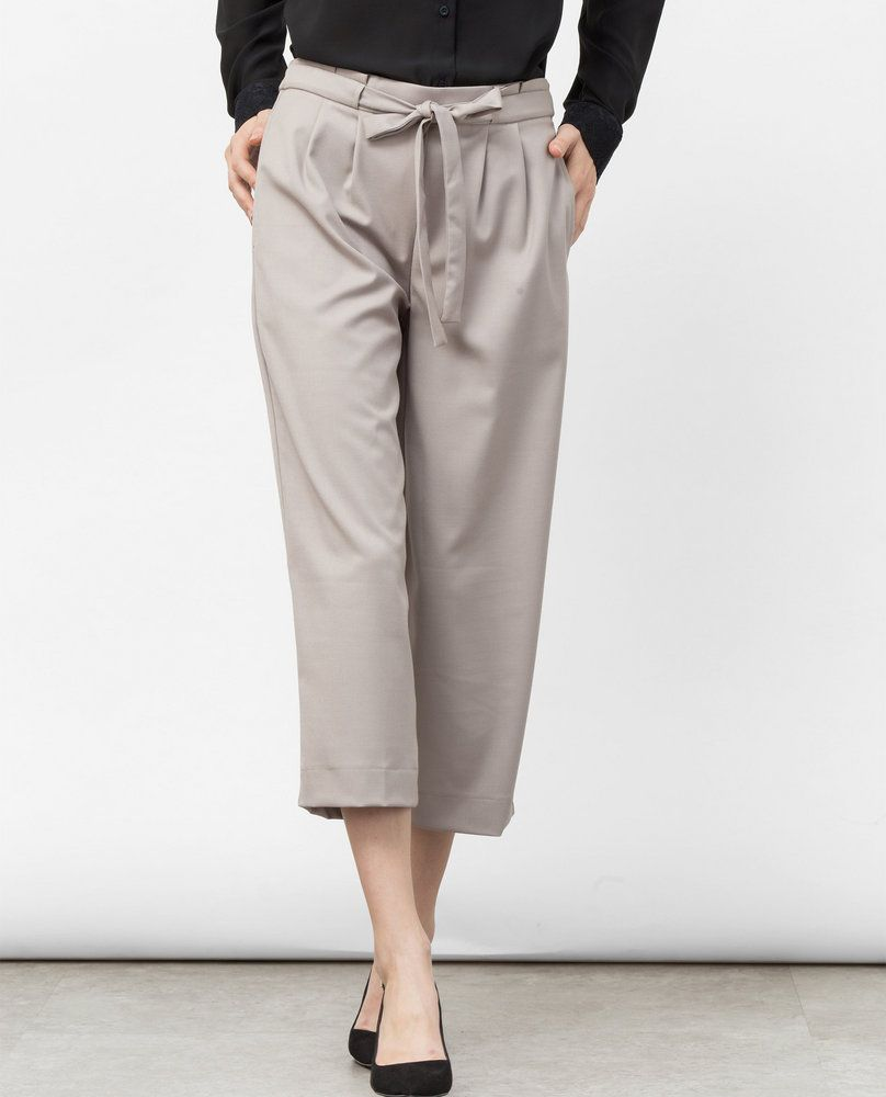 PLEATED CULOTTES (BEIGE)