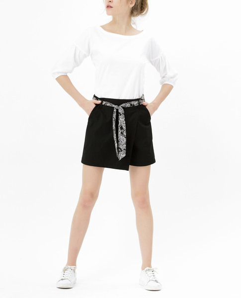 SHORTS WITH TIE (BLACK)