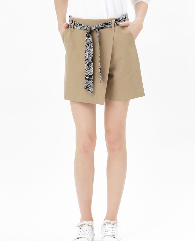 SHORTS WITH TIE (BEIGE)
