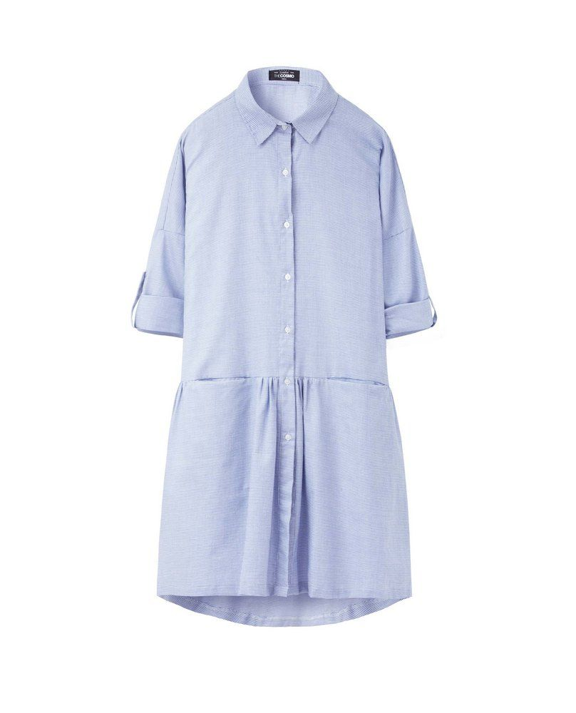 DROP WAIST DRESS (BABY BLUE)
