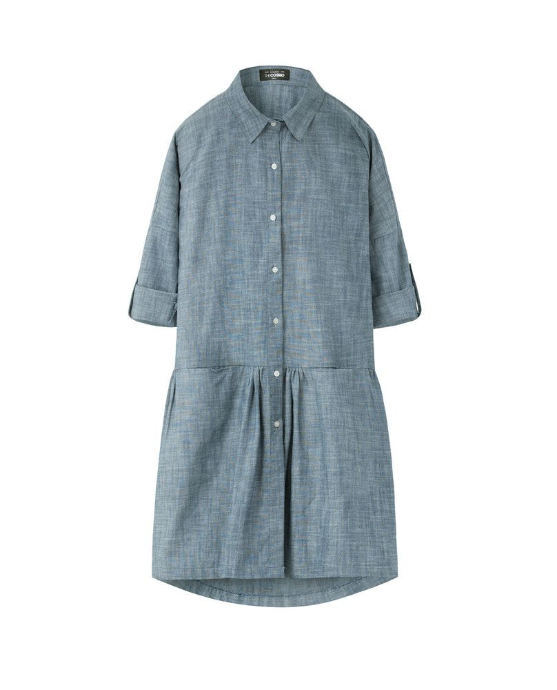 DROP WAIST DRESS (DENIM)
