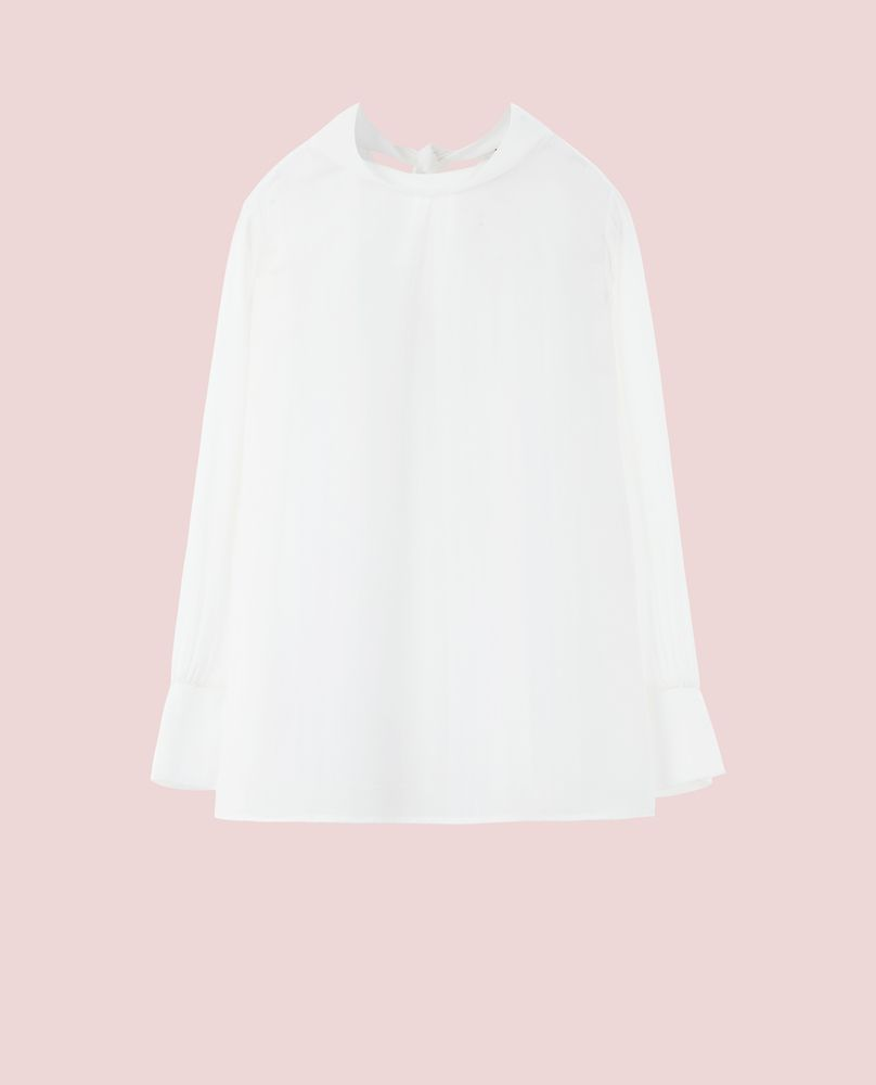 BACK BOW BLOUSE (WHITE)
