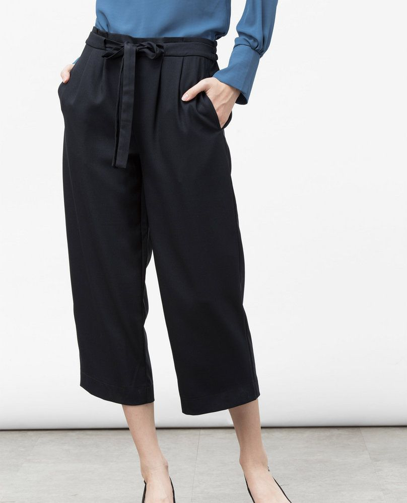 PLEATED CULOTTES (BLACK)