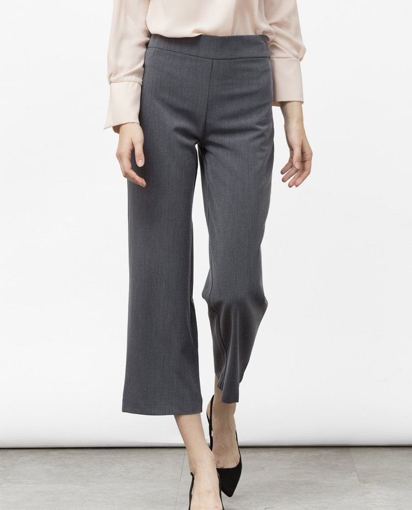 HIGH WAIST CULOTTES (CHARCOAL)