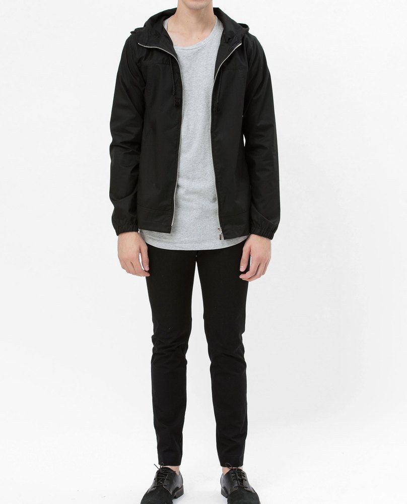 JACKET WITH HOOD (BLACK)