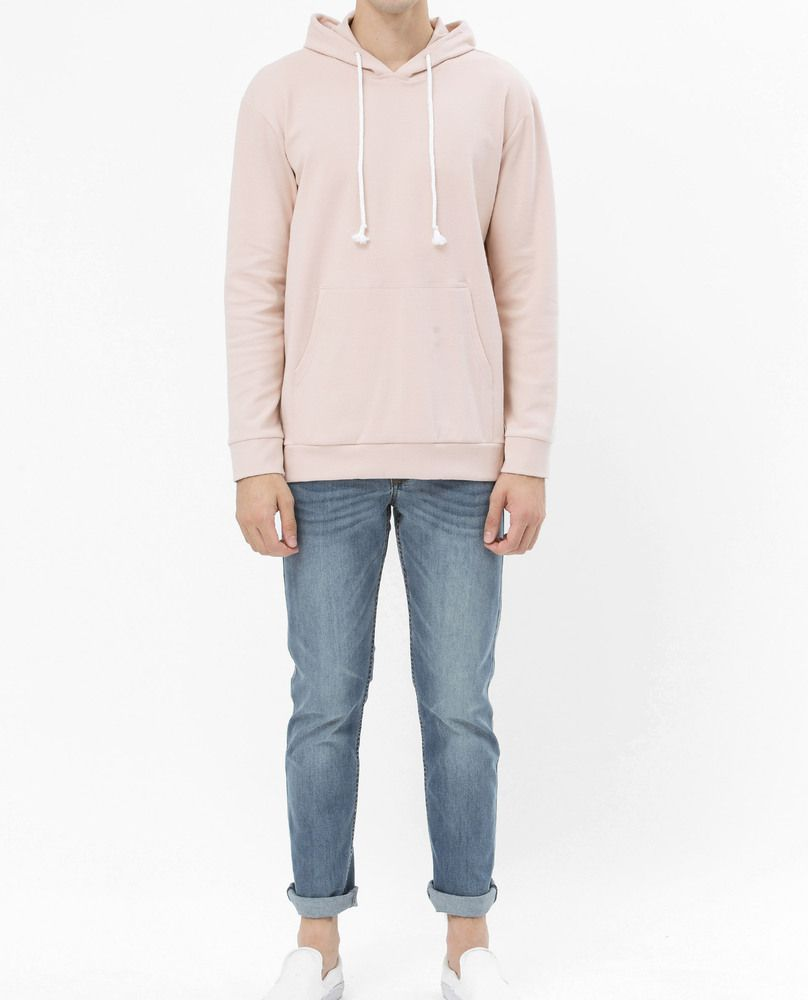 SWEATSHIRT WITH POUCH POCKET (PINK)