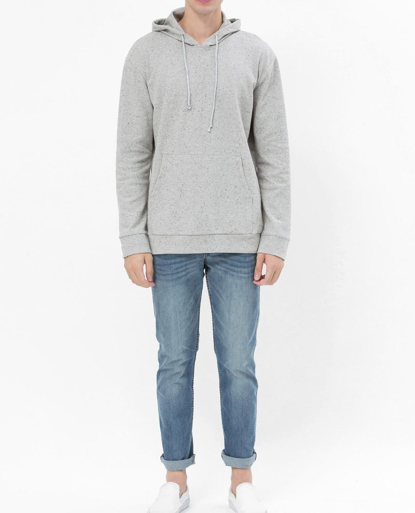 SWEATSHIRT WITH POUCH POCKET (GREY)