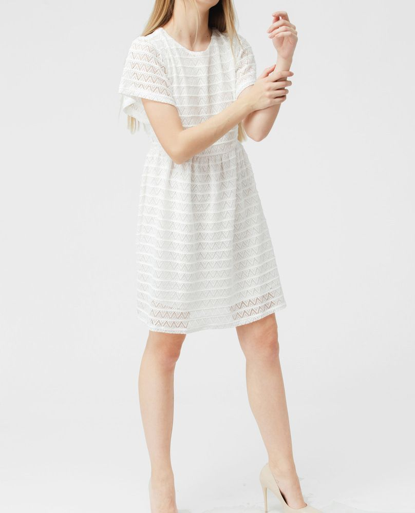 COTTON LACE DRESS (WHITE)