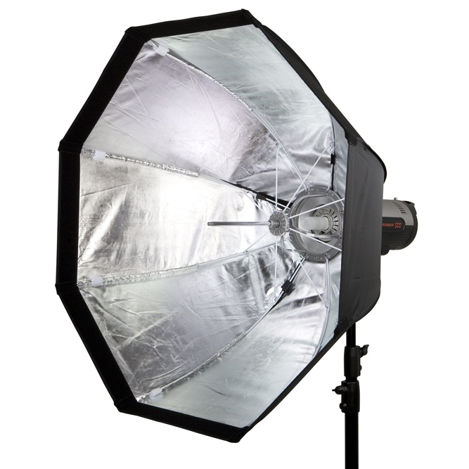 Softbox dù Portable Bowen Mount 80cm tổ ong