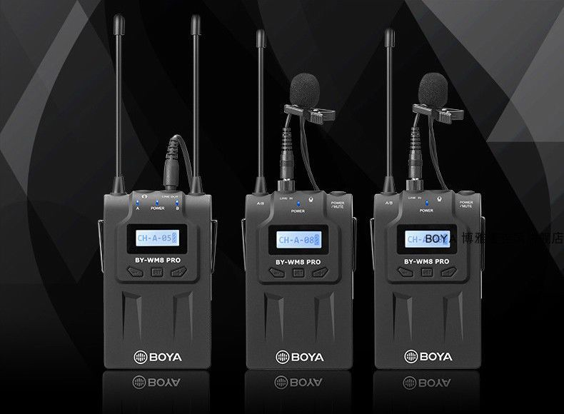 BOYA BY-WM8 PRO-K2 WIRELESS UHF(Bộ thu 2 Micro)