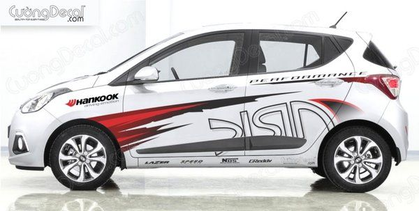 DECAL HYUNDAI i10 ARK RACING
