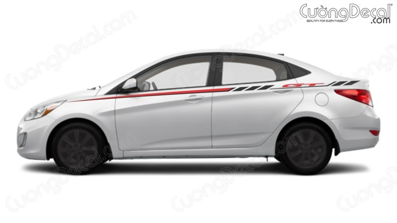 DECAL HYUNDAI ACCENT 006