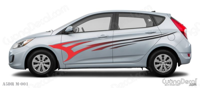 DECAL HYUNDAI ACCENT 007