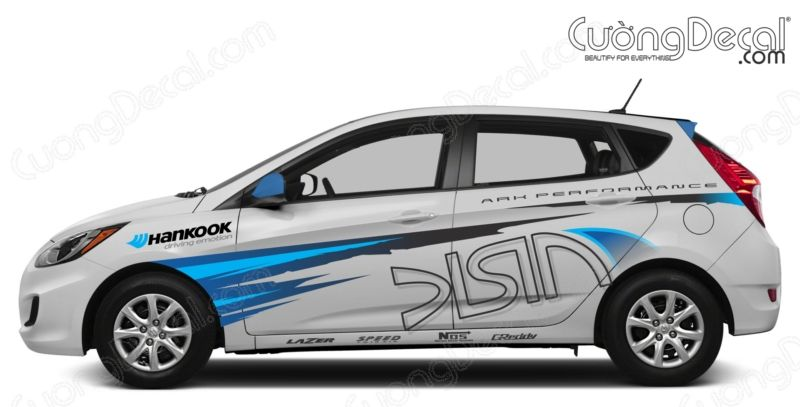 DECAL HYUNDAI ACCENT 013