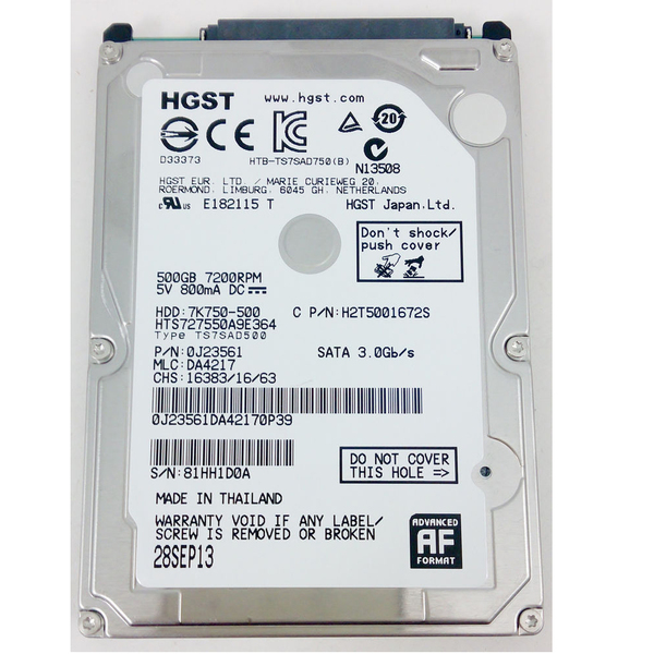 Ổ cứng Laptop Hitachi (HGST) 500Gb 7200rpm SATA3