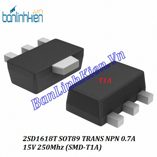 2SD1618T SOT89 TRANS NPN 0.7A 15V 250Mhz (SMD-T1A)