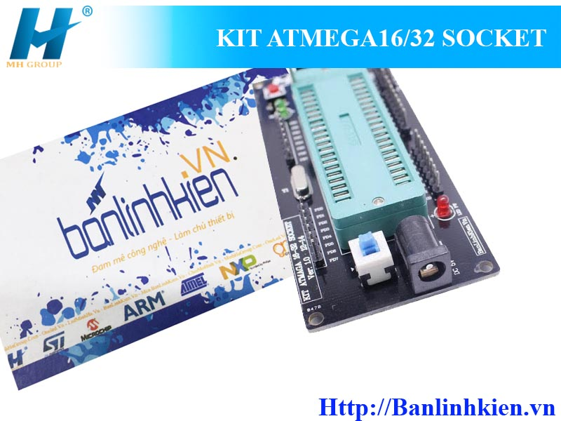 KIT ATMEGA16/32 SOCKET