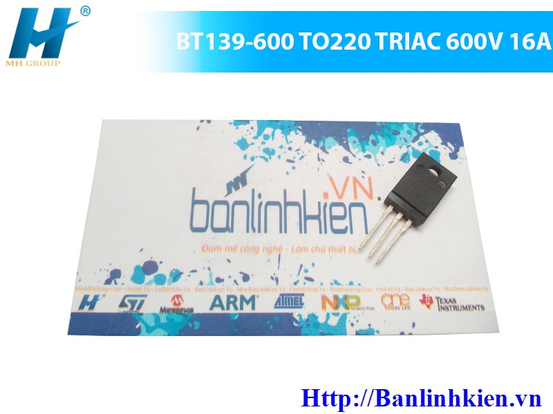 BT139-600 TO220 TRIAC 600V 16A