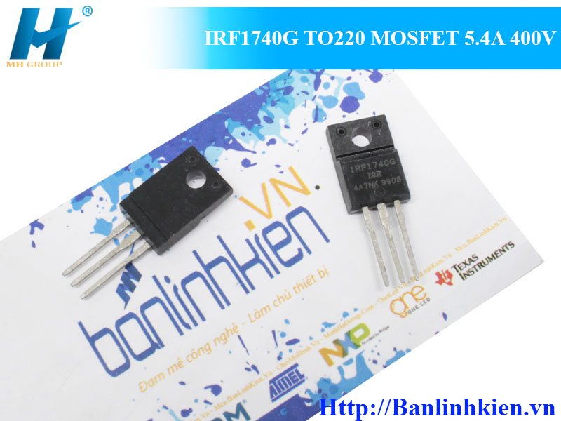 IRF1740G TO220 MOSFET 5.4A 400V