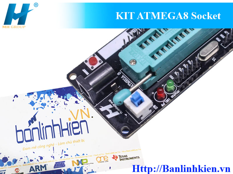 KIT ATMEGA8 Socket