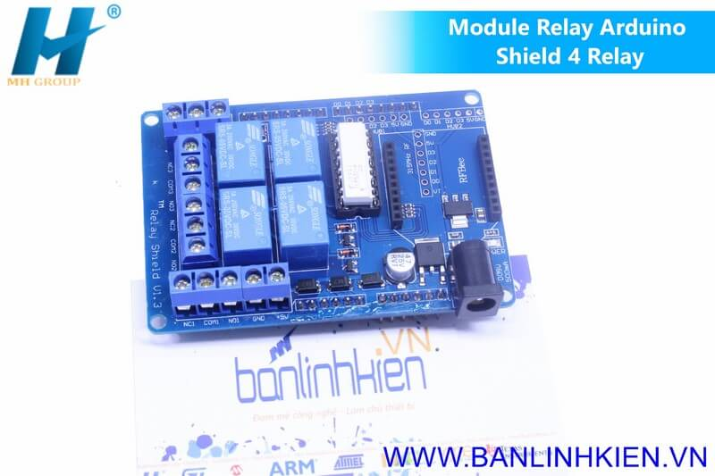 Module Relay Arduino Shield 4 Relay